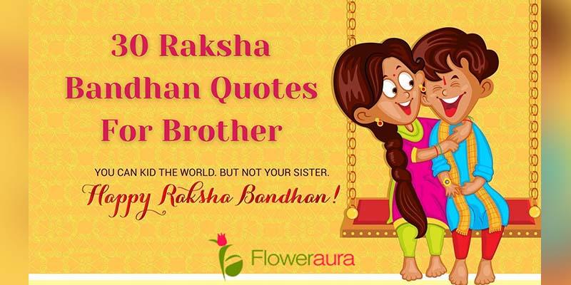 Raksha Bandhan Quotes for Brother & Raksha Bandhan Messages