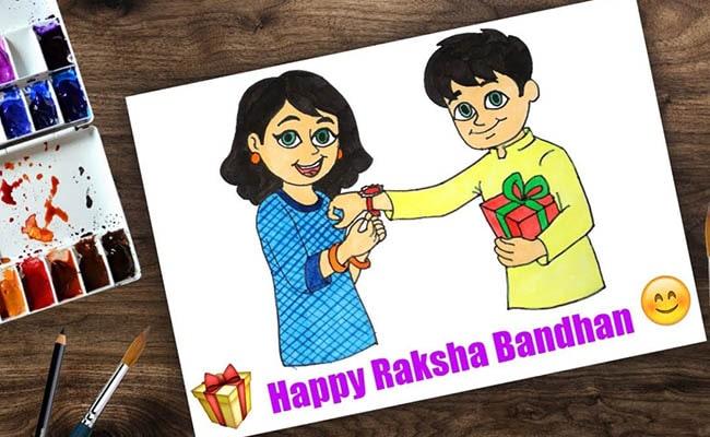 Sister Tying Rakhi On Brother's Wrist