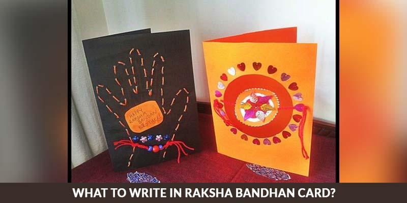 What To Write in Raksha Bandhan Card