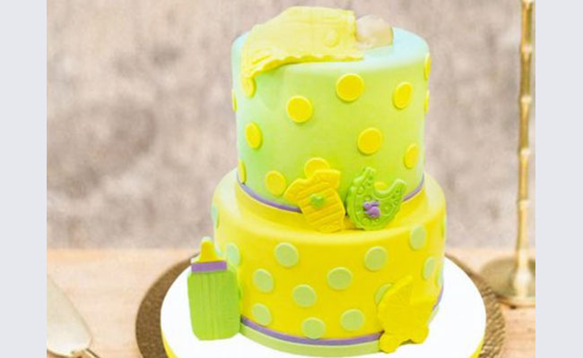 Blissful Baby Shower Cake