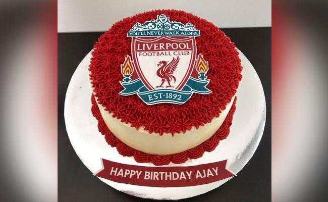 Liverpool Theme Cake