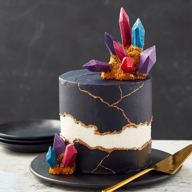 GemStones In Dark Cake