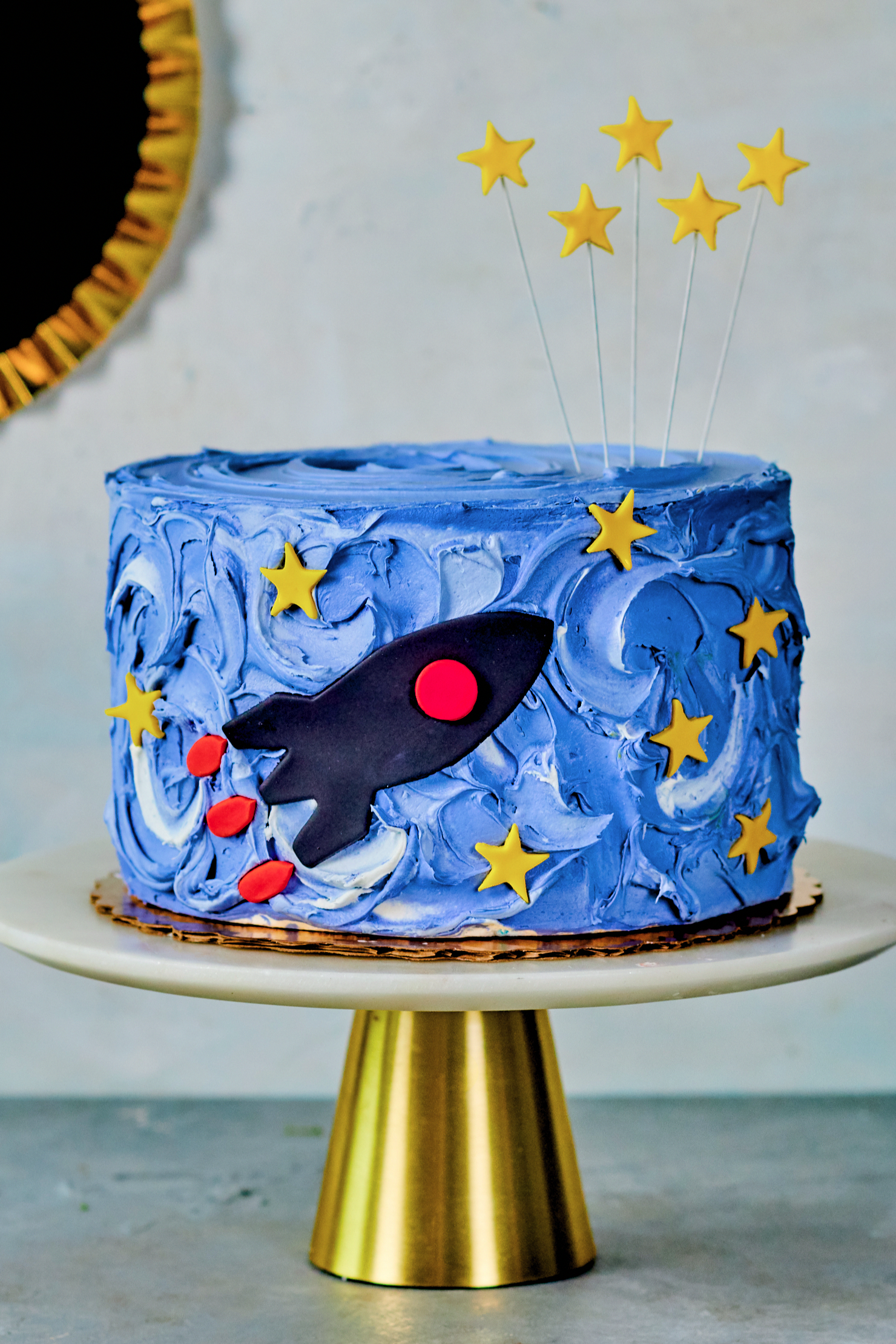 Spaceship On Mission Cake