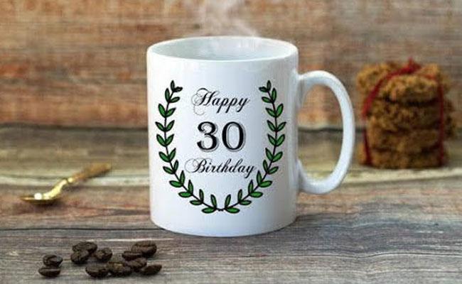 30th Birthday Photo Mug