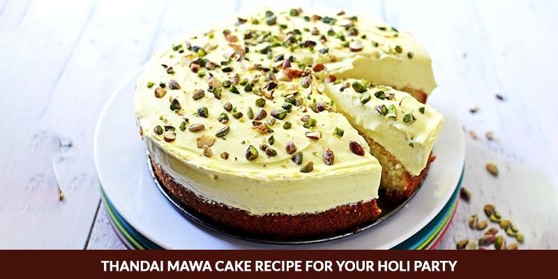 Thandai Mawa Cake Recipe