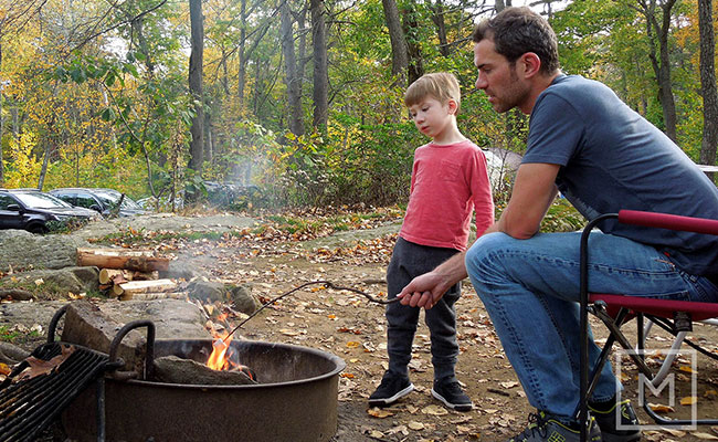Enjoy Camping at fathers day