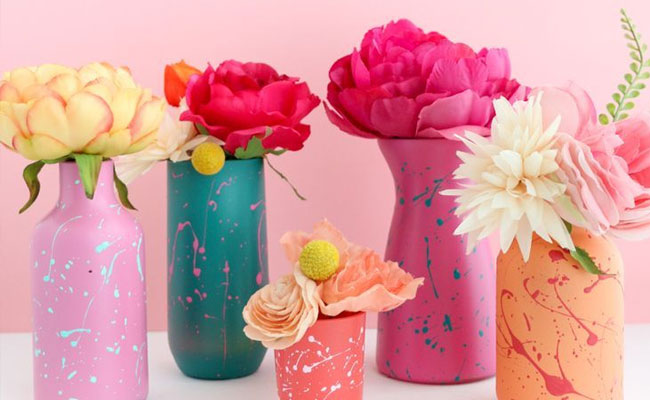 Hand Painted Flower Vase for Mothers Day Gift