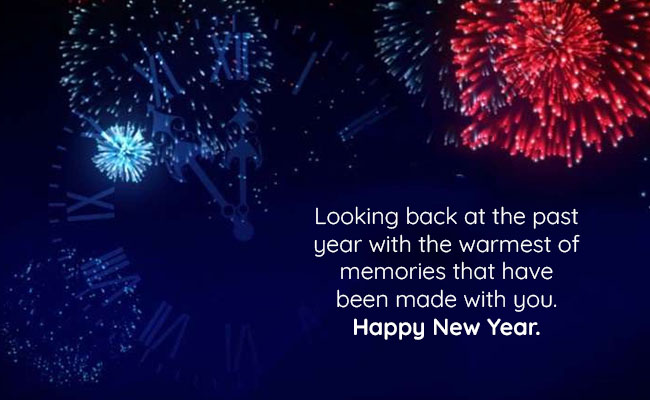 Looking back at the past year with the warmest of memories that have been made with you. Happy New Year.