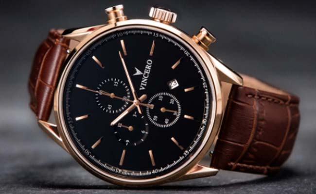 Gold and Leather Watch