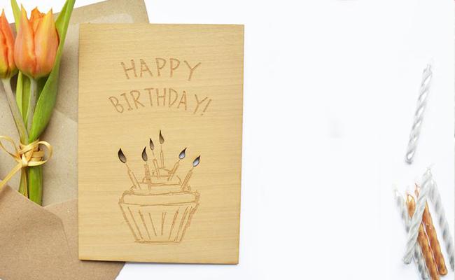Personalised Wood Card