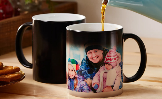 Heat Changing Personalised Mug for Husband