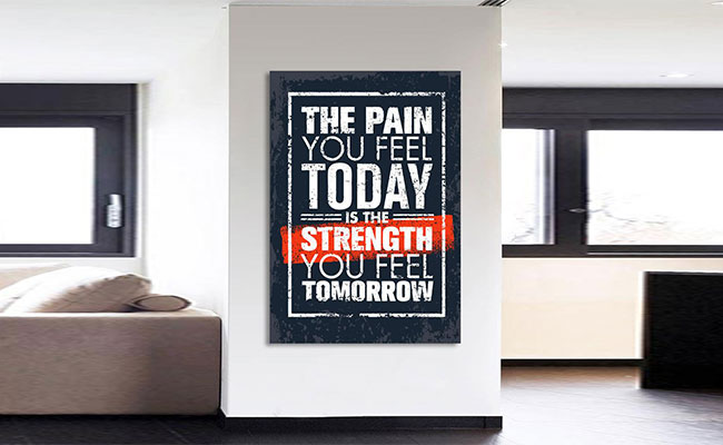 Framed Art with Motivation Quote