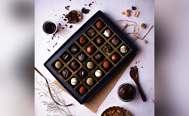 Gift Chocolates on New Year