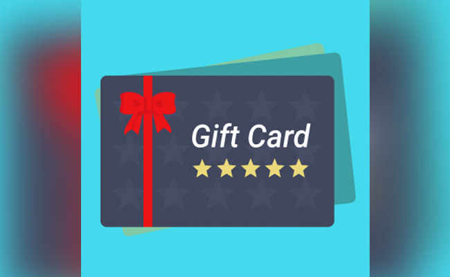 Gift Card or Voucher for New Year