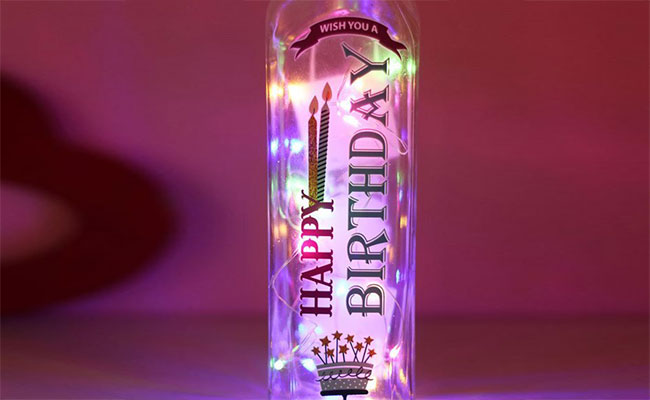 Birthday LED Bottle for Wife