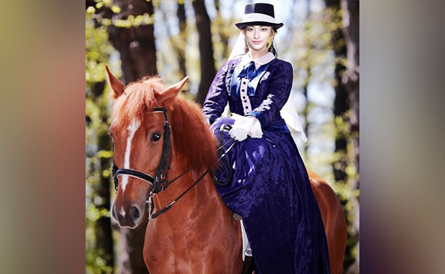 Female Horse Rider (Personalised E-poster)