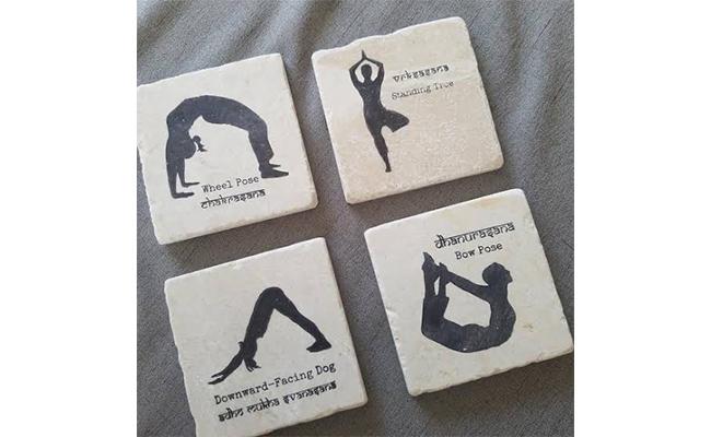 Yoga coasters