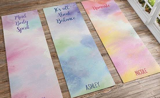 Personalised yoga mat